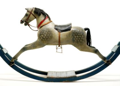 Victorian bow rocking horse, late 19th century, Powerhouse Museum collection, purchased 1985, 85/2060.