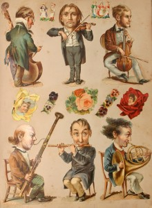 Victorian scrapbook of musicians