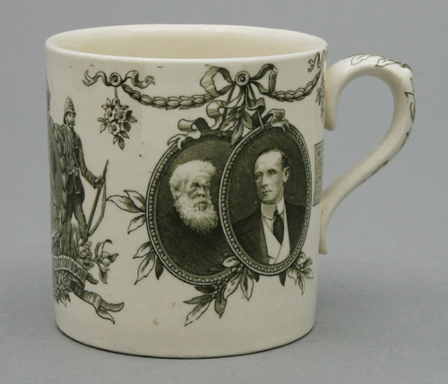 Australian Federation Mug, manufactured by Doulton & Co, Burslem, England, 1900, Powerhouse Museum, A2355