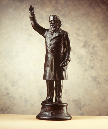 Statuette of Sir Henry Parkes, The Crimson Thread of Kinship, Sydney, Australia, 1890-1900, Powerhouse Museum, A7335