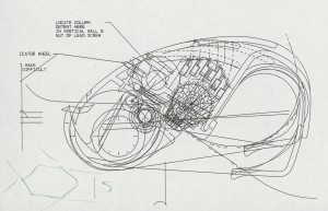 Technical drawing for 'Jot A Dot' portable Braille writer