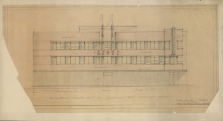 Architectural drawing of Clare (Ryan's) Hotel 1940