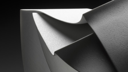 Photograph of detail Sculpture 'Forms in Succession #5'
