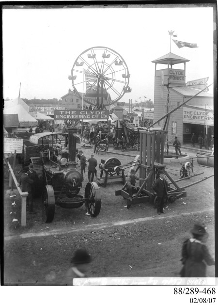 Photograph glass plate negative, Clyde Pavilion Royal Easter Show
