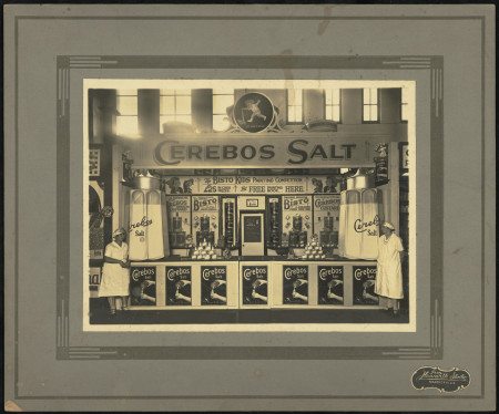 Photograph promotional exhibit for Cerebos Salt 1931