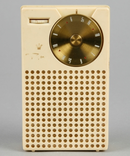 Photograph of Regency transistor radio