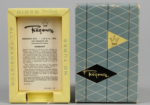 Photograph of Cardboard box for transistor radio