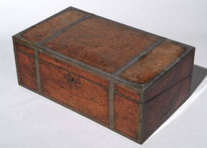 Photograph of portable writing desk, owned by David Lennox