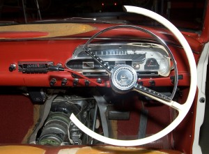 Photograph sectioned interior detailing of the Falcon.