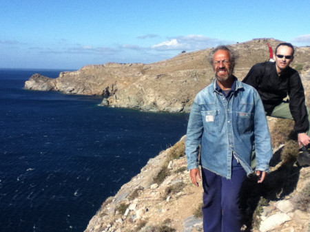 Photograph of Steve Vasilakis and Rudy Alagich on survey