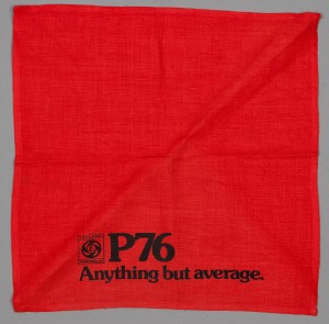 Leyland P76 promotional serviette, promotional, 1973. Powerhouse Museum collection, 92/1729, gift of Mr Jack Lawler, 1992.