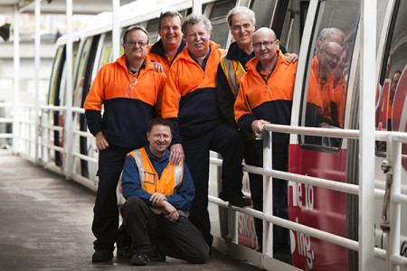 Photograph of the Sydney Monorail maintenance staff