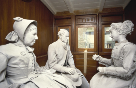 Photograph of Mannequins showing 1st class passengers in Loco No 1
