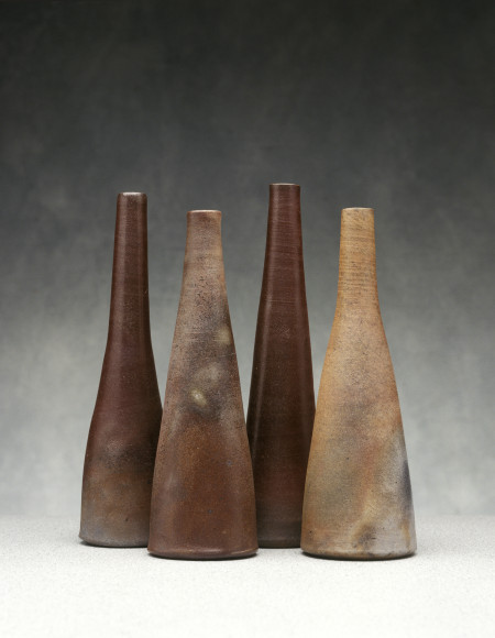 Photograph of Ceramic group, `Still Life (Four Bottles)'