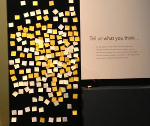 Photograph of Powerhouse Museum visitor comments.