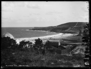 Photograph of Canadian Tobbogan at Coogee Beach 1887