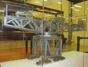 Photograph of Meccano giant block-setting crane model
