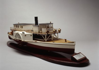 Model of the paddle steamer Wallaby