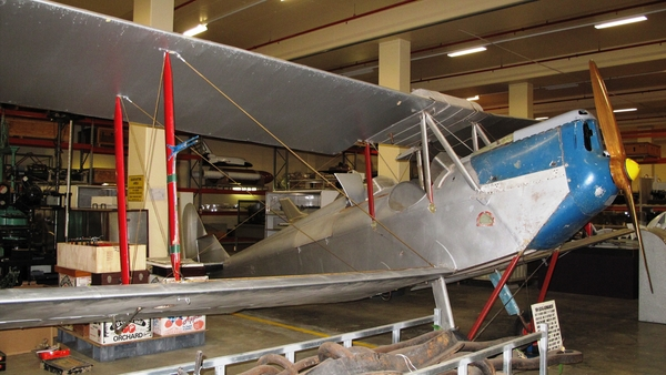 Photograph of Genairco Biplane in storage at Powerhouse Discovery Centre