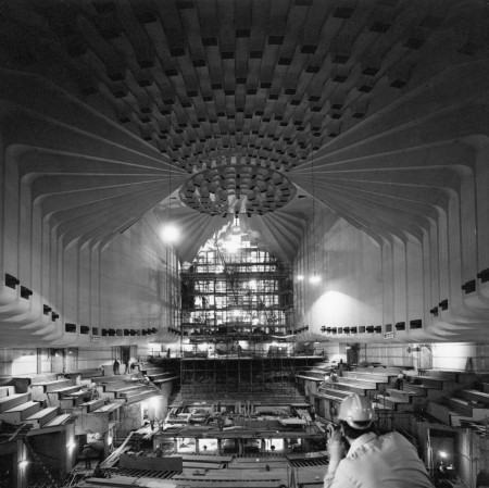 Photograph of Concert Hall under construction, 1971