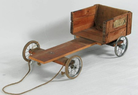 Photograph Home made billy cart
