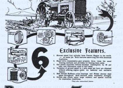 "Advertisement for an ""18-30 Super-Drive"" tractor"