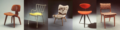 Photograph of five chairs