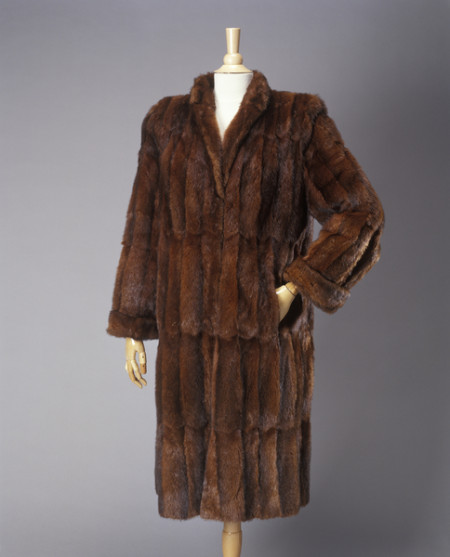 Photograph of water rat fur womens coat