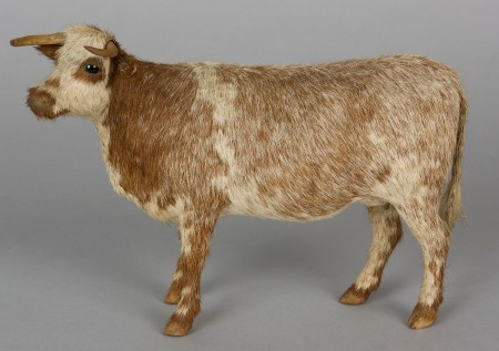 Model wax cow made by Wilhelmina Jurd (nee Gore). Powerhouse Museum collection, A10060. Gift of Lorraine Tilsed, 1984.