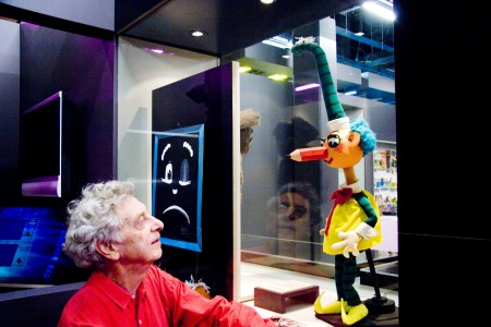 Photograph of Norman Hetherington and Mr Squiggle