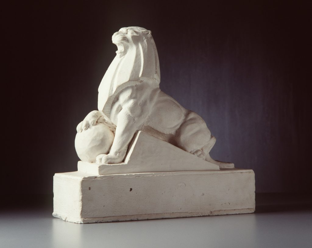 Plaster macquette of Holden lion