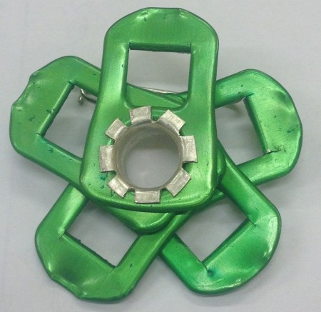 Photograph of 'Found Out - Floral Brooches' Green 003