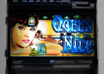 Photograph of Poker Machine 'Queen of the Nile' detail