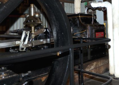 Photograph of inside Marshall steam engine