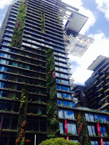 Photograph of Central Park heliostat & vertical garden