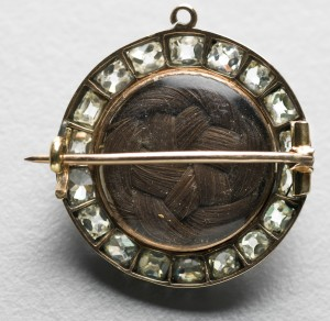 Photograph of hair brooch