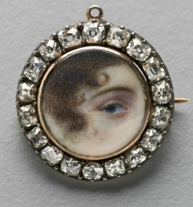 Photograph of eye brooch