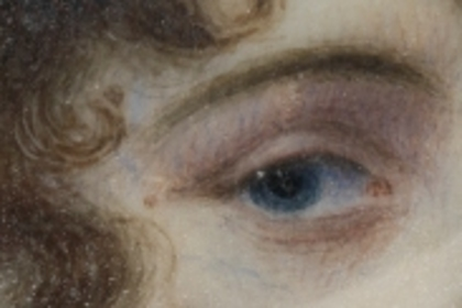 Detail of eye portrait originating out of the Prince of Wales