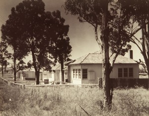 Photograph of Vandyke houses at Seven Hills, 1948