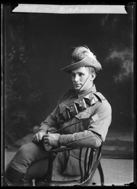 Photographic negative, studio portrait of Thomas Baker