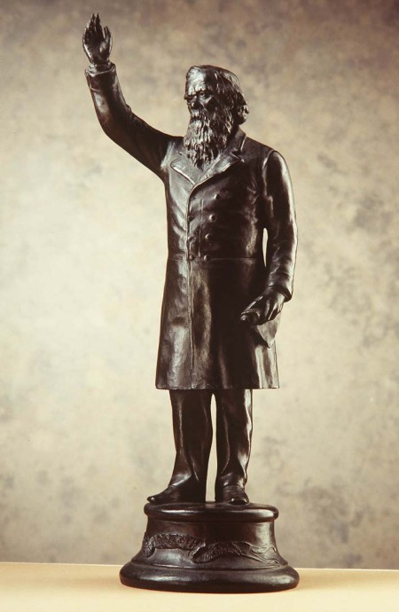 "Photograph of Statuette of Sir Henry Parkes, ""The Crimson Thread of Kinship"", terracotta / bronze, Nelson Illingworth, Sydney, Australia, 1898"