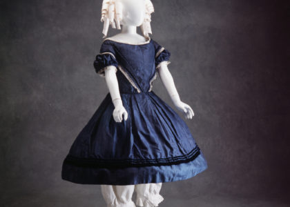 Photograph of girls blue dress 1850-1855