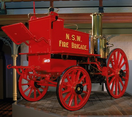 Steam fire engine pumper made by Merryweather and Sons, Greenwich, England, 1895
