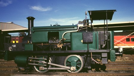 Industrial saddle-tank steam locomotive 1911