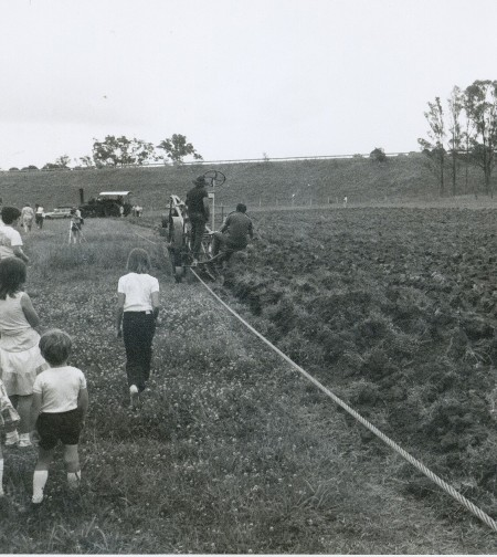 Steam ploughing demonstration at Menangle, NSW, in the 1980s