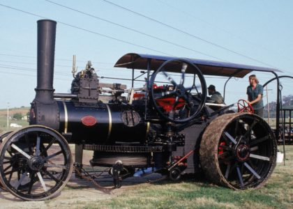 Steam ploughing engine made by John Fowler & Co., Leeds, England, 1889