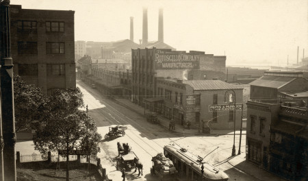 Harris Street, Ultimo from the Technological Museum, about 1920.