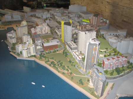 Model of Jacksons Landing, Pyrmont, made for Lend Lease