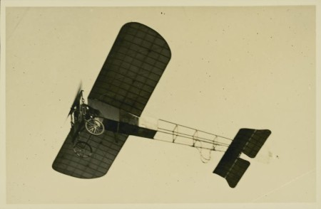 A contemporary 1914 postcard showing Guillaux' Blériot aircraft