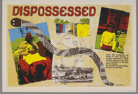 Poster, 'Dispossessed' 1985-1986